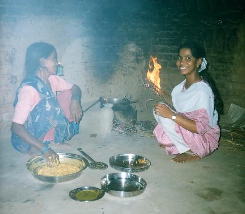 Village kitchen - smiles and smoke