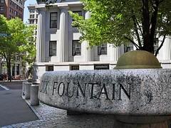 Dix Fountain (Dry) (AntyDiluvian) Tags: fountain boston animallover massachusetts financialdistrict trough dorotheadix socialactivist dixfountain