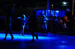 moves in the blue (CoriT.) Tags: blue girls shadow summer dance movement dancing free littlegirl moves chidhood