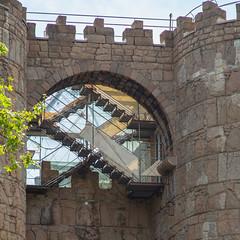 Poble Espanyol -   (2014-04-17_Barcelona_7942) (alpdanilov) Tags: barcelona city plants tower nature wall architecture town spain stairway staircase greens rhythm    pobleespanyol