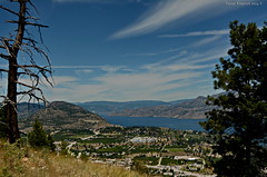 View to the North (Photography Through Tania's Eyes) Tags: city trees mountain lake canada water grass rock pine landscape photography photo nikon photographer bc view image britishcolumbia photograph summerland okanaganlake okanaganvalley ponderosapine copyrightimage giantsheadmountain taniasimpson nikond7100