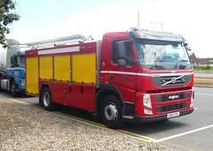 Volvo FM 450 Angloco Fire Engine of Sembcorp at  Billingham Chemical Complex (seacoaler) Tags: truck fire volvo industrial engine pump lorry service tender appliance brigade ici sembcorp