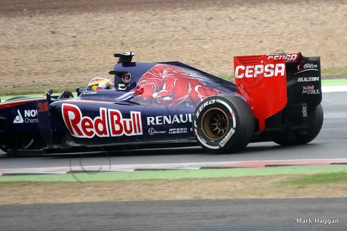 Jean-Eric Vergne in his Toro Rosso during qualifying for the 2014 British Grand Prix