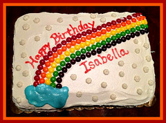 Rainbow cake by Amber, Triad NC, www.birthdaycakes4free.com
