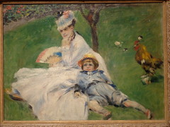 Pierre-Auguste Renoir, (sftrajan) Tags: sanfrancisco bird art museum painting child lawn mother exhibit artmuseum impressionist renoir californiapalaceofthelegionofhonor nationalgalleryofartwashington intimateimpressionism