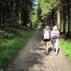 "New photo added to ""Camera Roll"" (honz121) Tags: trees summer jenna sunshine scotland track photos hiking path sunny helen ios hillwalking conichill ifttt"