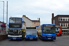 Ready for Action (Northern156) Tags: volvo profile north lancashire solo cumbria alexander dennis keswick stagecoach x4 penrith trident x5 workington a66 optare plaxton 17246 alx400 b7r 53338 lillyhall m850 transcumbria px04dmv 47061 px59cvd x246nno