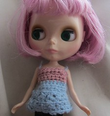 crocheted blythe baby doll top