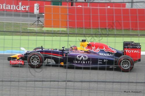 Sebastian Vettel in the 2014 German Grand Prix