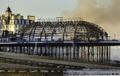 Very very sad - Eastbourne Pier (JamboEastbourne) Tags: england fire sussex pier july east eastbourne 2014