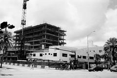 New Hyatt Hotel Construction South Beach (Phillip Pessar) Tags: camera new bw white black film beach analog 35mm construction florida kodak miami tx south trix x 400 hyatt 28 tri which kb