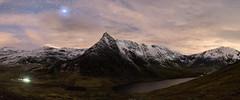 Tryfan (A Crowe Photography) Tags: tryfan panoramic panorama snowdonia snowdonianationalpark nighttimephotography night nightsky wales walesnighttime welshflickrcymru welshphotography welshlandscape nighttime