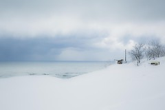 snow dunes #4 (Y.Hassy) Tags: beach waterside sea cloud sakyu 海 波際 field natural 静か snow nature 海辺 canon 鳥取 snowdunes sand japan 5d tottori 水際