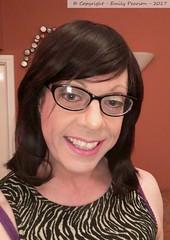 March 2017 (Girly Emily) Tags: crossdresser cd boytogirl mtf maletofemale tv tvchix tranny trans transvestite transsexual tgirl tgirls convincing dress feminine girly cute pretty sexy transgender xdresser gurl glasses indoor