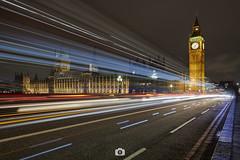 Westminster & Big Ben ● London (Jaime Hernández Pérez) Tags: london londres longexposure largaexposicion city cityscape ciudad luces lights street uk england bigben westminster canon80d canon1022