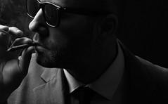ME (Donald Palansky Photography) Tags: sonyslta99v smoking portrait alienbees strobist offcameraflash selfportrait sunglasses