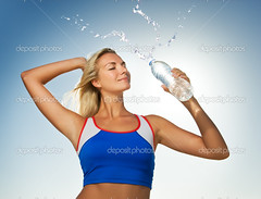 Young woman drinking water after fitness exercise (vilijaggg) Tags: active athletic background beautiful beauty blond blue body bottle clean closeup cold copyspace drink exercise female fitness fresh frozen girl gulp hair hand healthy heat hold hot human hydrate lifestyle mineral outdoors person refreshing runner sip sky sparkling splash sport summer sun sunshine swallow thirst tummy water weather woman