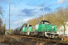 BB60039 + BB60053 - Train 464010 Rosporden>Rennes (Alan Jaffré) Tags: sncf bb60000 bb60039 bb60053 fret 464010 rosporden rennes lorient transcéréales céréales