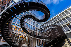 Curving around (*Capture the Moment* (OFF till End June)) Tags: 2017 architektur art artwork fenster kpmg kunst munich münchen olafureliasson sonya7m2 sonya7mii sonya7mark2 sonya7ii sonyfe1635mmf4zaoss staircase stairs window windows