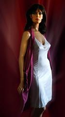 Do you follow ? (newslipman63) Tags: hindsgaul maxime 6261 slip fullslip unterkleid combinaison nylonslip dress kleid satin blouse
