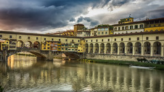 Reflections on Arno (j૯αท ʍ૮ℓαท૯) Tags: reflects reflejos reflets reflections arno firenze florence italie ponte vecchio