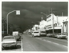 Wairoa township before a storm (Archives New Zealand) Tags: archives archivesnewzealand archivesnz nationalpublicitystudios newzealand newzealandhistory nz northisland storm naturaldisasters disaster weather rainfall 1976 hawkesbay wairoa