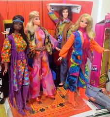 My 'Hippie Rock Group'! (ModBarbieLover) Tags: 1971 ken barbie pj christie live action fashion hippie rock dolls mod clone