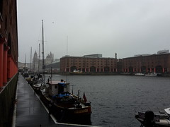 Liverpool - Albert Dock in the rain (potty01926) Tags: liverpool albert dock rain saturday liver building museum
