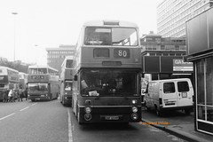 G M Buses 7694 (ONF 694R) (SelmerOrSelnec) Tags: gmbuses leyland atlantean northerncounties onf694r manchester piccadillybusstation gmt bus monochromatic
