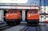 1020.17 + 30  Bludenz  09.09.85 (w. + h. brutzer) Tags: bludenz eisenbahn eisenbahnen train trains österreich austria railway elok locomotive zug öbb 1020 eloks lokomotive webru analog nikon