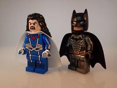 Graviton and Injustice Batman (Alien Hand) Tags: lego marvel dc graviton batman injustice leyile pad printed
