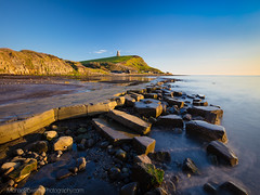 Evening Light at Clavell Tower, Kimmeridge. (Michael Sowerby Photography) Tags: dorset jurrasiccoast coast kimmeridge bay clavell tower cliff rocks rock legdes rockformation golden light sun evening sunset sea water outdoor england uk canon 5dsr 1635mm