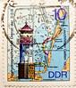 great stamp Germany / former GDR, DDR 10 pf lighthouse Leuchtturm (Leuchtfeuer Gellen  1905, Seehydrographischer Dienst der DDR; farol, latarnia morska, phare, мая́к, faro, 信号塔 svetilnik фар fyrtårn ประภาคาร منارة, majakka maják, fyret tuletorn מגדלור (stampolina, thx for sending stamps! :)) Tags: ddr gdr deutschedemokratischerepublik germany easterngermany маяк latarniamorska lighthouse leuchtturm stamps stamp 切手 briefmarke briefmarken スタンプ postzegel zegel zegels марки टिकटों แสตมป์ znaczki 우표 frimärken frimerker 邮票 طوابع bollo francobollo francobolli bolli postes timbres sello sellos selo selos razítka γραμματόσημα bélyegek markica antspaudai маркица pulları tem perangko timbru pulu timbresposte 德意志民主共和国 leuchtfeuer gellen hiddensee mecklenburgvorpommern ostsee balticsea morzebałtyckie балтийскоеморе østersøen östersjön itämeri baltijasjūra fyrtårn фар svetilnik 信号塔 faro мая́к phare farol bunt colorful map meer sea