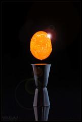 Event Horizon (WibbleFishBanana) Tags: egg levitation flare sun crack cracked