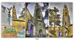 PORTMEIRION CAMPANILE (régisa) Tags: portmeirion wales galles cymru snowdonia village campanile bell tower belltower