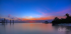 Florida Life: Afterglow (Thūncher Photography) Tags: sony a7r2 sonya7r2 ilce7rm2 zeissfe1635mmf4zaoss fx fullframe longexposure scenic landscape waterscape nature outdoors sky clouds colors sunset reflections shadows beach tropical palmtrees pier dock sand hutchinsonisland stuart palmcity florida southeastflorida martincounty