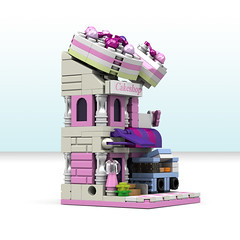 Cake Shop (LEGO 7) Tags: cake shop mini modular lego moc ldd