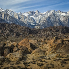 Mt. Whitney from Alabama Hills (Jeffrey Sullivan) Tags: alabama hills recreation area blm iphone 6s apple iphone6splus mobile phone cellphone camera images iphoneography california usa photo copyright 2016 jeff sullivan april bureauoflandmanagement lonepine easternsierra inyocounty olloclip 2x telephoto