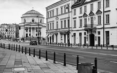 Warsaw  Plac Trzech Krzyży (peterpj) Tags: warszawawarschau stalexanderschurch bw sony a6300 sigma3014c warsaw silverefexpro2 plactrzechkrzyży
