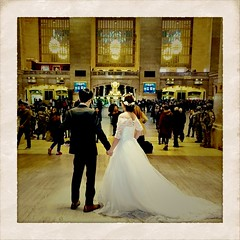 bride & groom, Grand Central Terminal (deanwgd608) Tags: wedding bride groom grandcentralterminal iphone iphonephotography