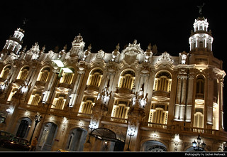 Gran Teatro de La Habana @ Night, Havana, Cuba