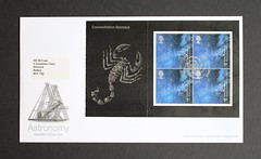 Constellation Scorpius -  FDC from DX29 'Across the Universe' Stamp Booklet (Darren...) Tags: