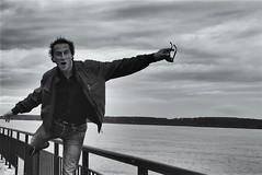 L'equilibrista (ioriogiovanni10) Tags: montana lom selfie monotone monocromatico blackewhite canon river sofia bulgaria fiume lommontana
