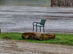 Nobody will be sitting here for a while (kendoman26) Tags: bench benchmonday illinoisriver fuji fujifinepix fujifinepixs1 bridgecamera