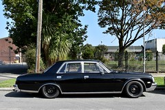 1994 Toyota Century (stephen trinder) Tags: stephentrinder stephentrinderphotography christchurch christchurchnewzealand thecarsofchristchurch aotearoa kiwi landscape nz newzealand 1994 toyota century black
