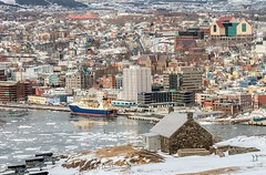 St. John's (Karen_Chappell) Tags: stjohns city urban canada nfld newfoundland eastcoast downtown avalonpeninsula atlanticcanada architecture buildings boat ice spring harbour queensbattery signalhill landscape scenery scenic