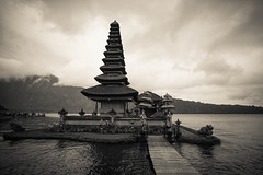 Ulun Danu Beratan Temple (Made Wenten B) Tags: bali temple lanscape lake bw bratan bedugul culture sony a7 voigtlander 21mm f4