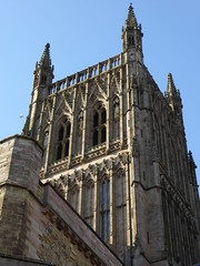 Tower, Worcester Cathedral (Aidan McRae Thomson) Tags: worcester cathedral worcestershire church architecture medieval tower