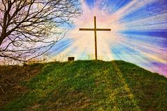 Easter (Dave Linscheid) Tags: jesuschrist resurrection eternallife savior sacrifice christianity faith religion cross texture textured butterfield watonwancounty mn minnesota usa