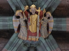 Bishop & Angels (Aidan McRae Thomson) Tags: worcester cathedral worcestershire medieval roofboss bosses carving